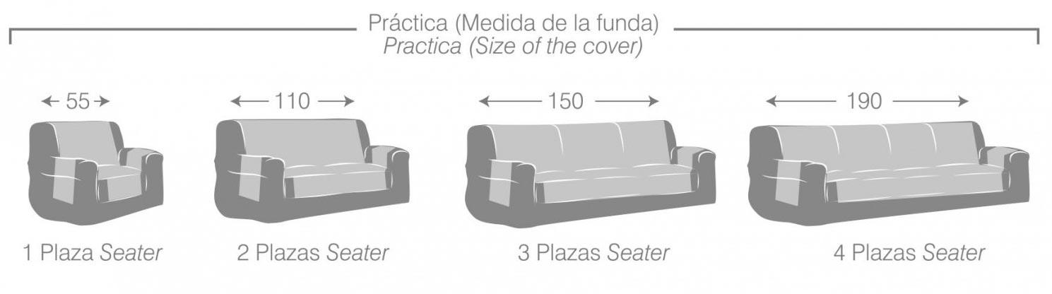 Funda de sofa pr ctica constanza for Medidas sofa 2 plazas