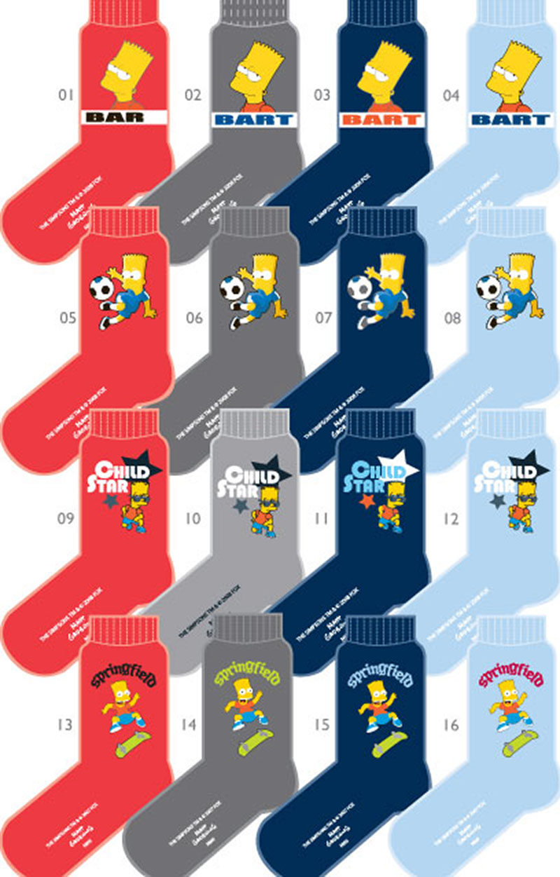 CALCETINES SURTIDOS BART SIMPSON pack 3 pares colores surtidos Tallas 35-38