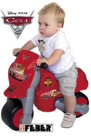 MOTO FEBER CARS 2 DISNEY único