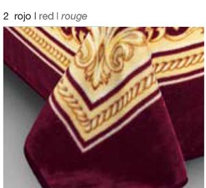 MANTA ESTAMPADA 5101 rojo c2 Cama de 135/150 cms