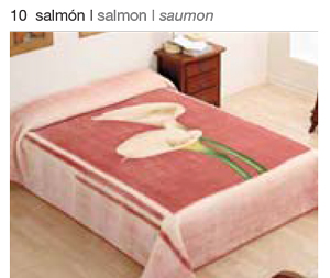 MANTA ESTAMPADA 5134 salmon c10 Cama de 135/150 cms