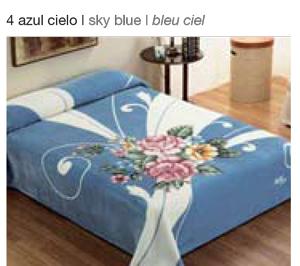MANTA ESTAMPADA 5136 azul cielo c4 Cama de 135/150 cms