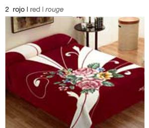 MANTA ESTAMPADA 5136 rojo c27 Cama de 135/150 cms