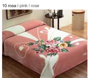 MANTA ESTAMPADA 5136 rosa c10 Cama de 135/150 cms