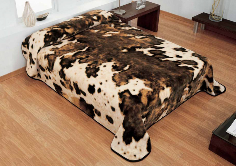 MANTA ESTAMPADA 5161 marron c7 Cama de 135/150 cms