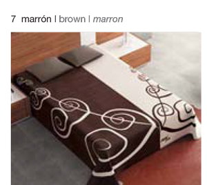 MANTA ESTAMPADA 5182 marron c7 Cama de 090 cms