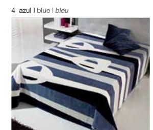 MANTA ESTAMPADA 5310 azul c4 Cama de 090 cms
