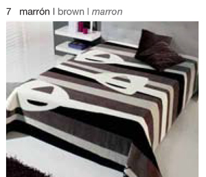 MANTA ESTAMPADA 5310 marron c7 Cama de 090 cms