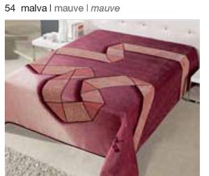 MANTA ESTAMPADA 5311 malva c54 Cama de 135/150 cms