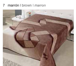 MANTA ESTAMPADA 5183 marron c7 Cama de 135/150 cms