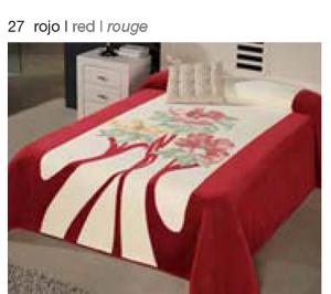 MANTA ESTAMPADA 5313 rojo c27 Cama de 135/150 cms