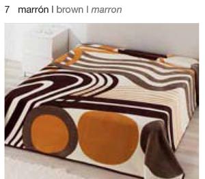MANTA ESTAMPADA 5326 marron c7 Cama de 135/150 cms