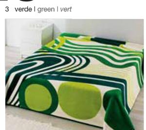 MANTA ESTAMPADA 5326 verde c3 Cama de 135/150 cms