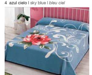 MANTA ESTAMPADA 5330 azul cielo c4 Cama de 135/150 cms