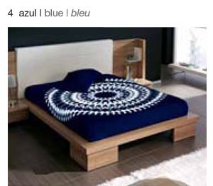 MANTA ESTAMPADA 5335 azul c4 Cama de 135/150 cms