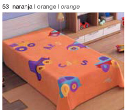 MANTA ESTAMPADA JUNIOR 5565 naranja c53 Cama de 090 cmss