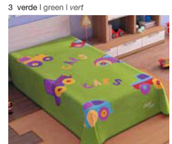 MANTA ESTAMPADA JUNIOR 5565 verde c3 Cama de 090 cmss