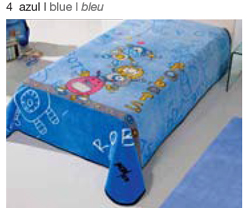 MANTA ESTAMPADA JUNIOR 5568 azul c4 Cama de 090 cmss