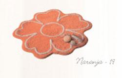 ALFOMBRA BAÑO MELISA 19 - Naranja 65 x 65 cm