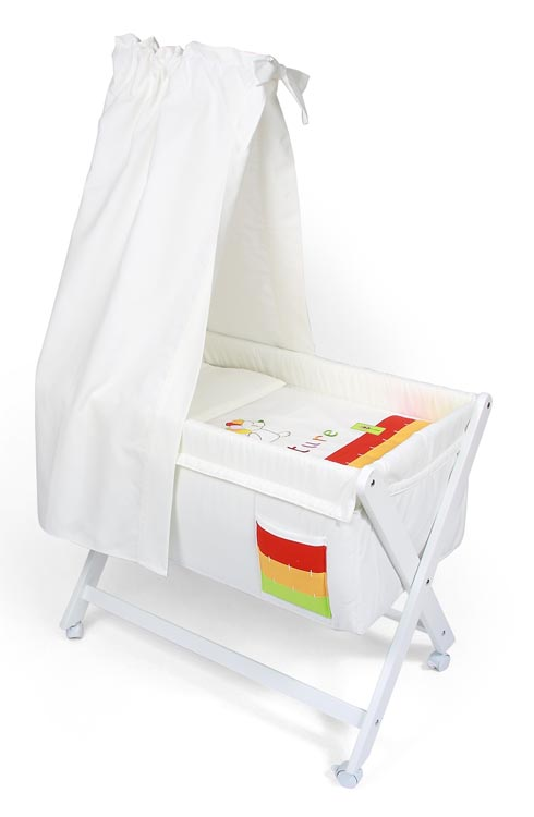CAMITA MADERA CON DOSEL 68 Color blanco unica (46x78cm)