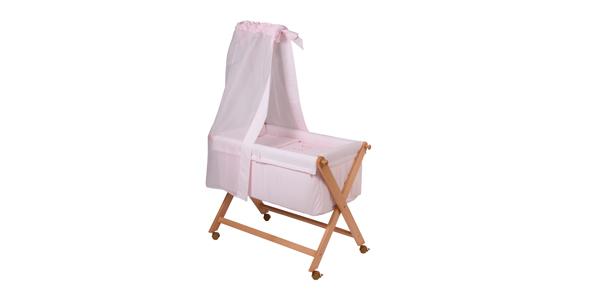 CAMITA MADERA CON DOSEL 61 Color rosa unica (46x78cm)