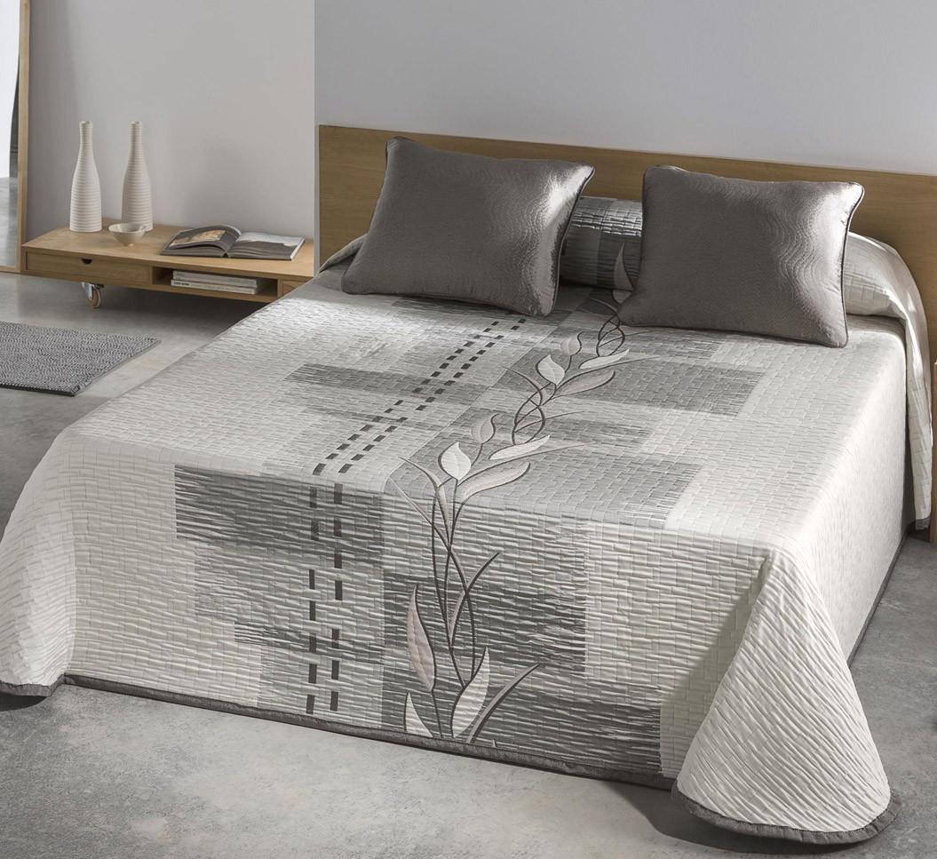 Colcha piqu zen gris blanco 401 404 cama de 135 cms - Colchas para camas de 150 ...