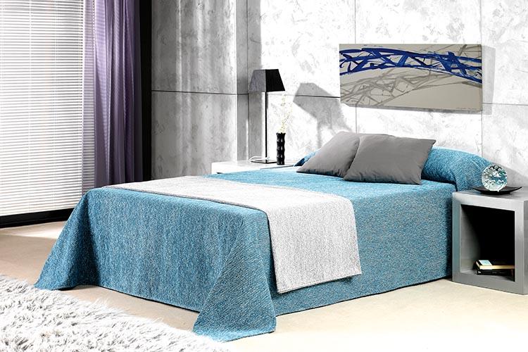 COLCHA CROMATIC C/03 - Azul Cama de 180 cm