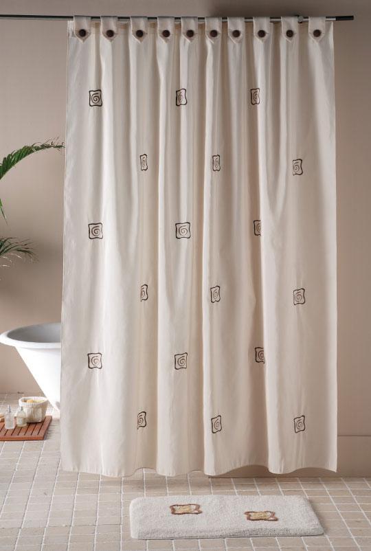 CORTINA BAÑO CLAUDIA 18 - marrón 140 x 200 cm 18 - marrón 180 x 200 cm
