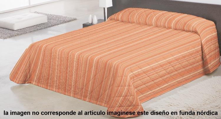 FUNDA NORDICA BARROCO 1 Color naranja Cama de 150 cm