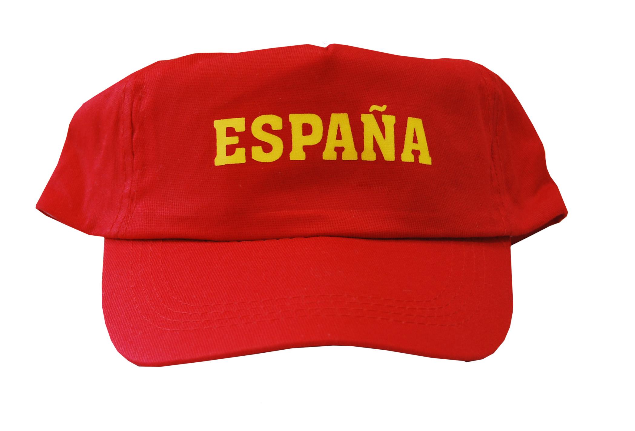 GORRA ESPAÑA ESTAMPADA 05 rojo Niño