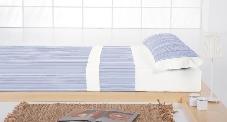 JUEGO DE SABANAS BARROCO 1 Color azul Cama de 090 cm