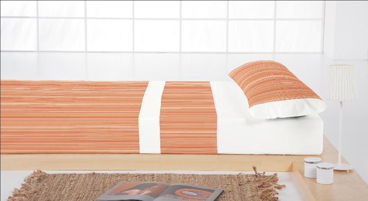 JUEGO DE SABANAS BARROCO 1 Color teja Cama de 150 cm