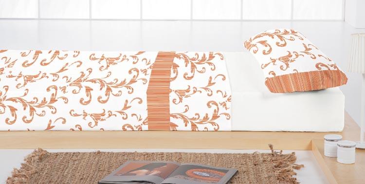 JUEGO DE SABANAS BARROCO 2 Color teja Cama de 090 cm Color teja Cama de 105 cm Color teja Cama de 135 cm Color teja Cama de 150 cm