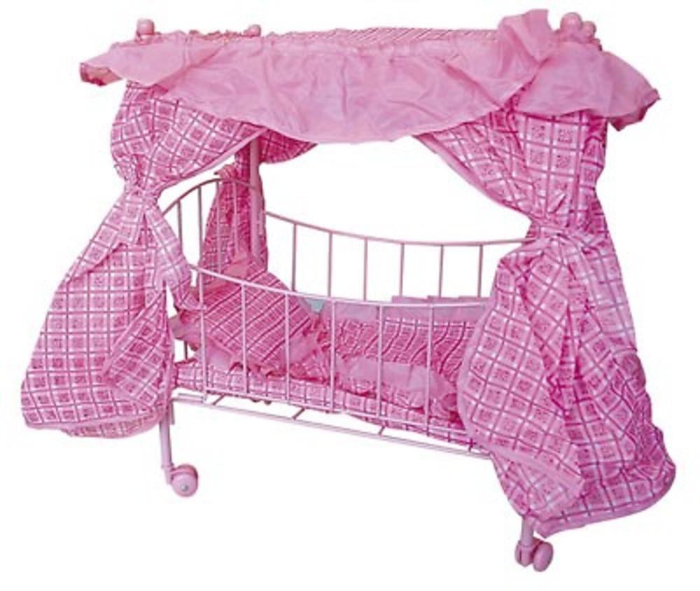 Baby cuna rosa con dosel juguetes varios angawa com - Cunas con dosel ...