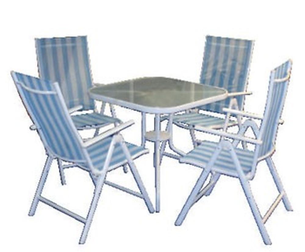 Conjunto 4 sillones aluminio mesa juguetes jardin for Conjunto sillones jardin