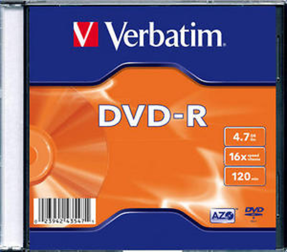 DVD-R MATT SILVER 16X - 4.70 GB JEWEL.