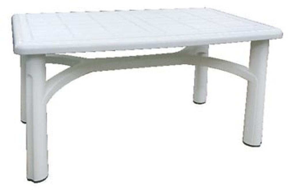 mesa resina blanca 140x90 bolero juguetes jardin