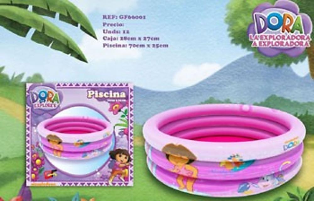 Piscina hinchable para ni os y bebes con dibujos de dora for Piscina hinchable bebe