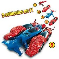 COCHE TRANSFORMER RACER SPIDERMAN D