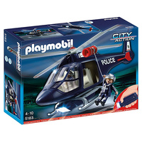HELICOPTERO POLICIA C/LUCES PLAYMOB