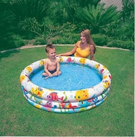 PISCINA 3 TUBOS DECOR.PECES 132X28