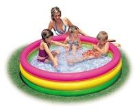 Piscina hinchable para niños y bebes con 3 tubos de colores con medidas 114x25cm