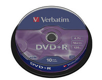 TARRINA 10 DVD+R  MATT SILVER  16X -  4.70 GB