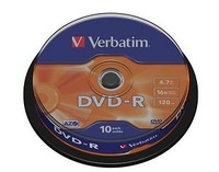 TARRINA 10 DVD-R  MATT SILVER  16X -  4.70 GB.