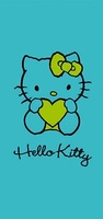 TOALLA 150X75CM.HELLO KITTY TURQUES